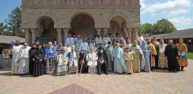 Click for full sized image of clergy photo at 2017 pilgrimage.