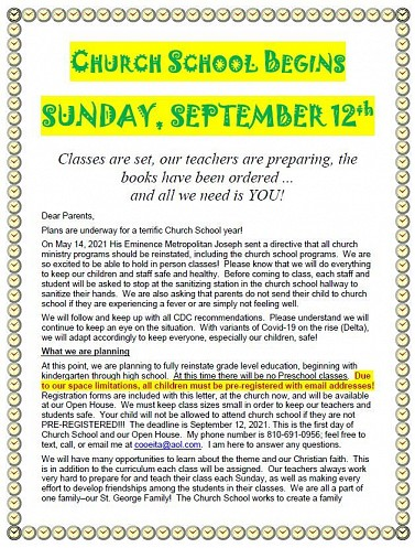 Click for Printable / Downloadable Letter